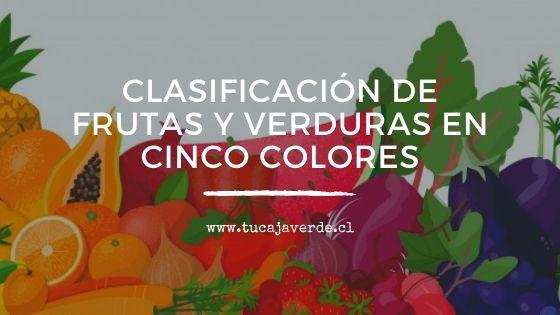 Clasificación de frutas y verduras en cinco colores blogtucajaverde